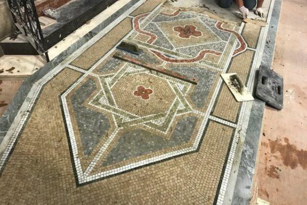 Christchurch - Kensington London - new marble mosaic