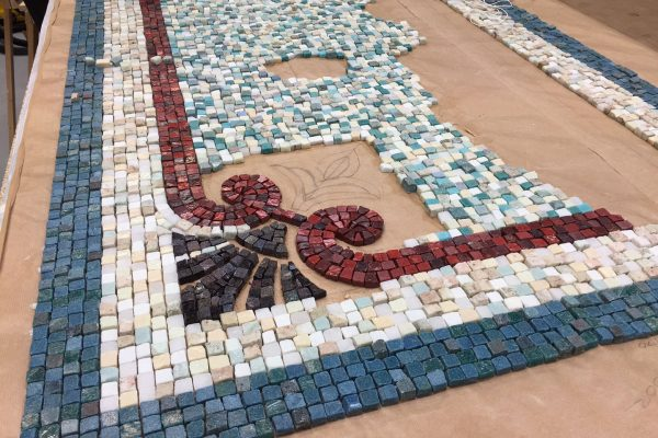 Mosaic Restoration Work in Progress