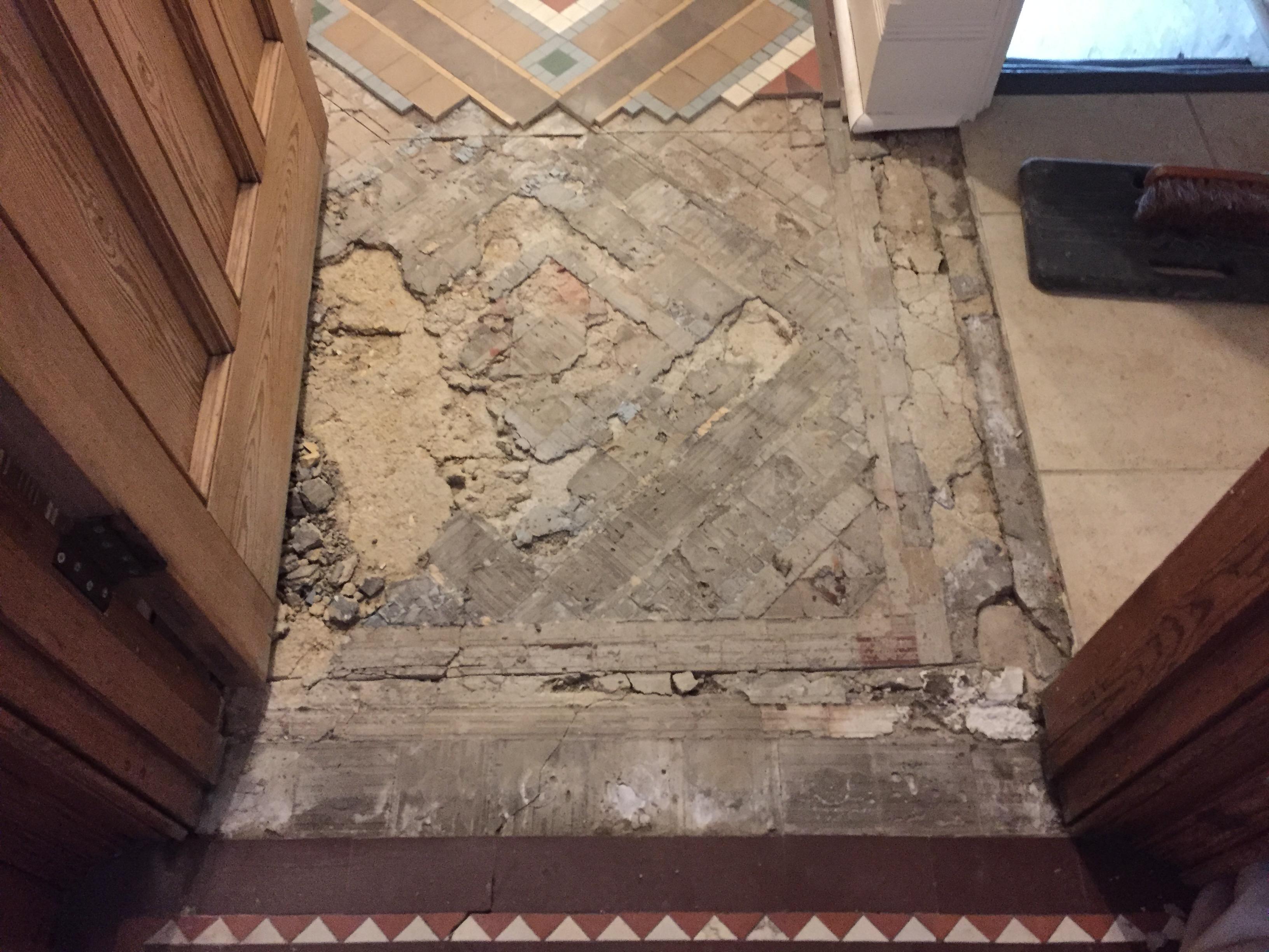 Private Victorian Restoration Project Mosaic Restoration
