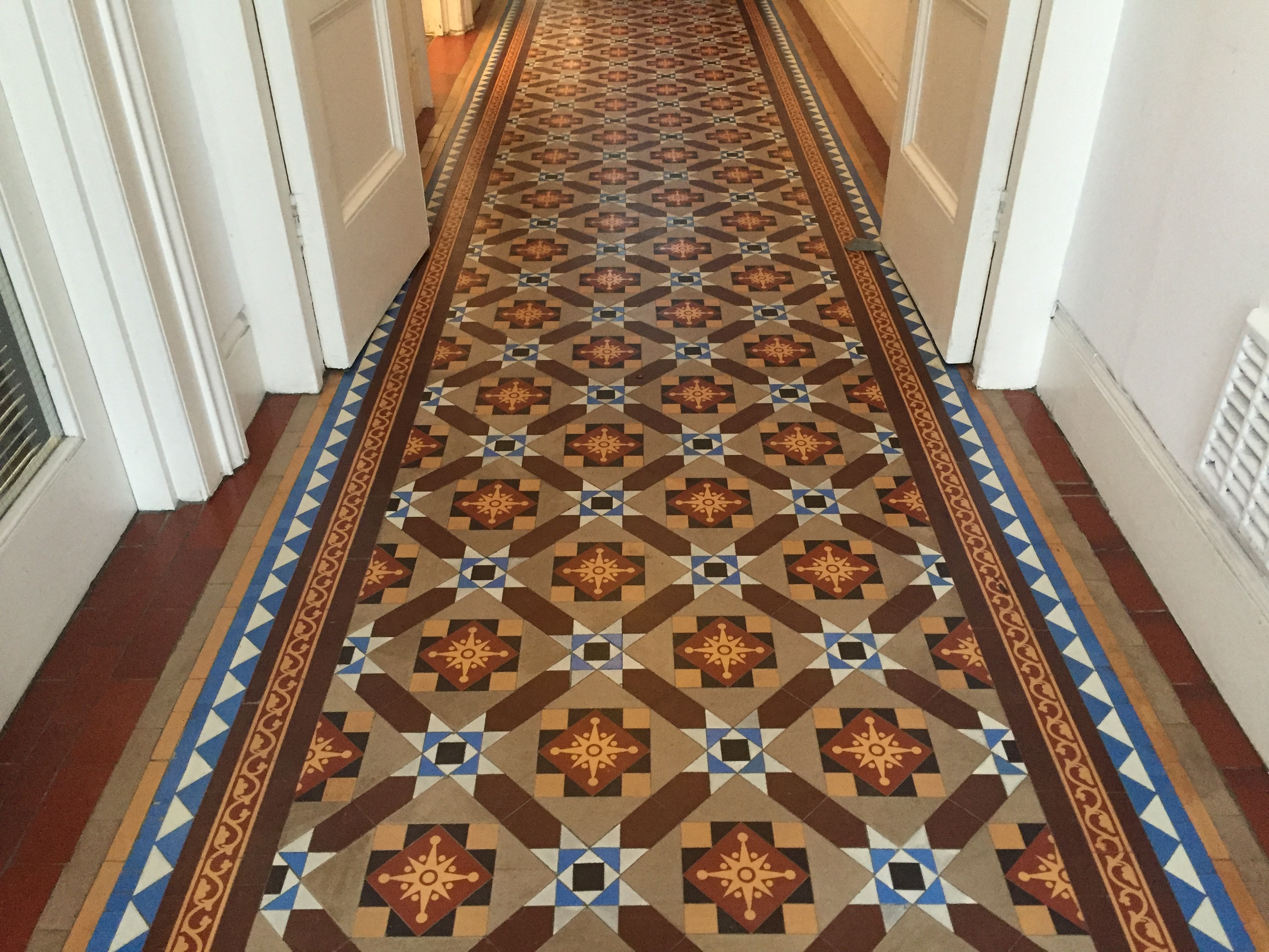 Central London Victorian geometric and encaustic tile project