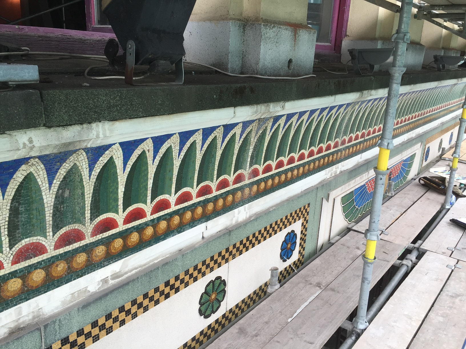 Bewleys Cafe, Dublin. Venetian glass and terrazzo mosaic