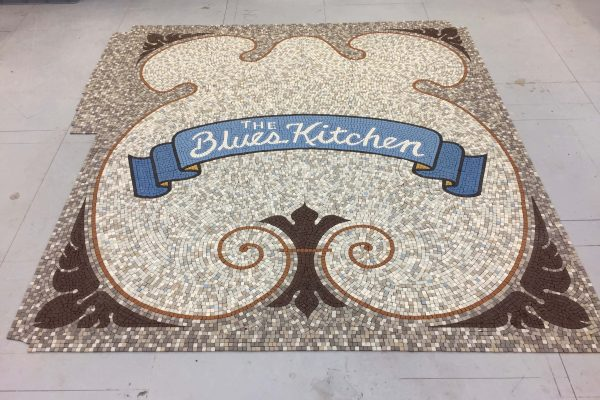 Blues Kitchen, London - design, off site fabrication and installation - Mosaic Restoration UK