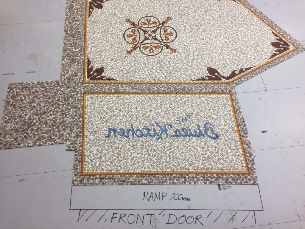 Blues Kitchen, Shoreditch, London - design, off site fabrication and installation - Mosaic Restoration