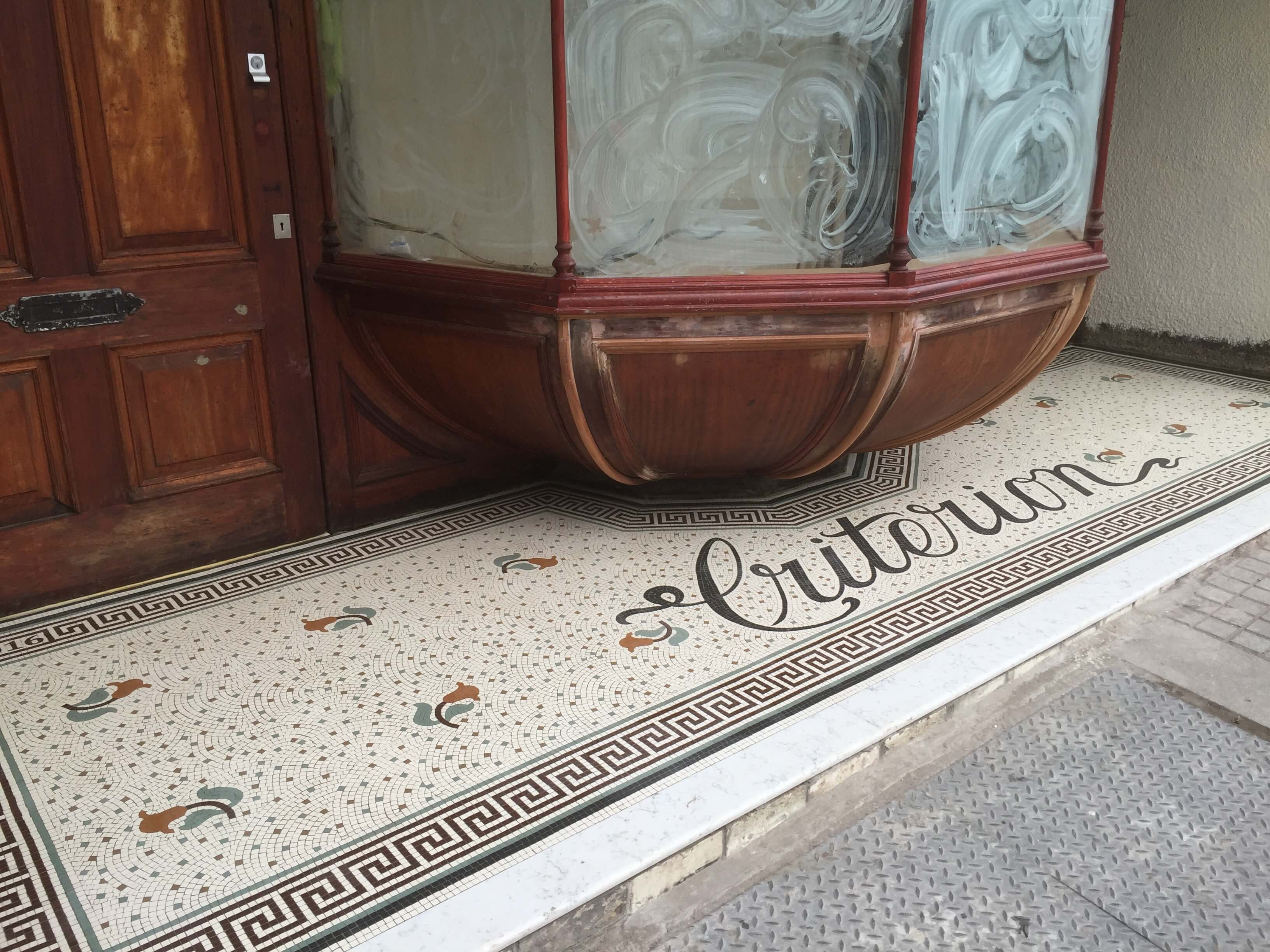 The criterion, Pontypridd - Mosaic Restoration