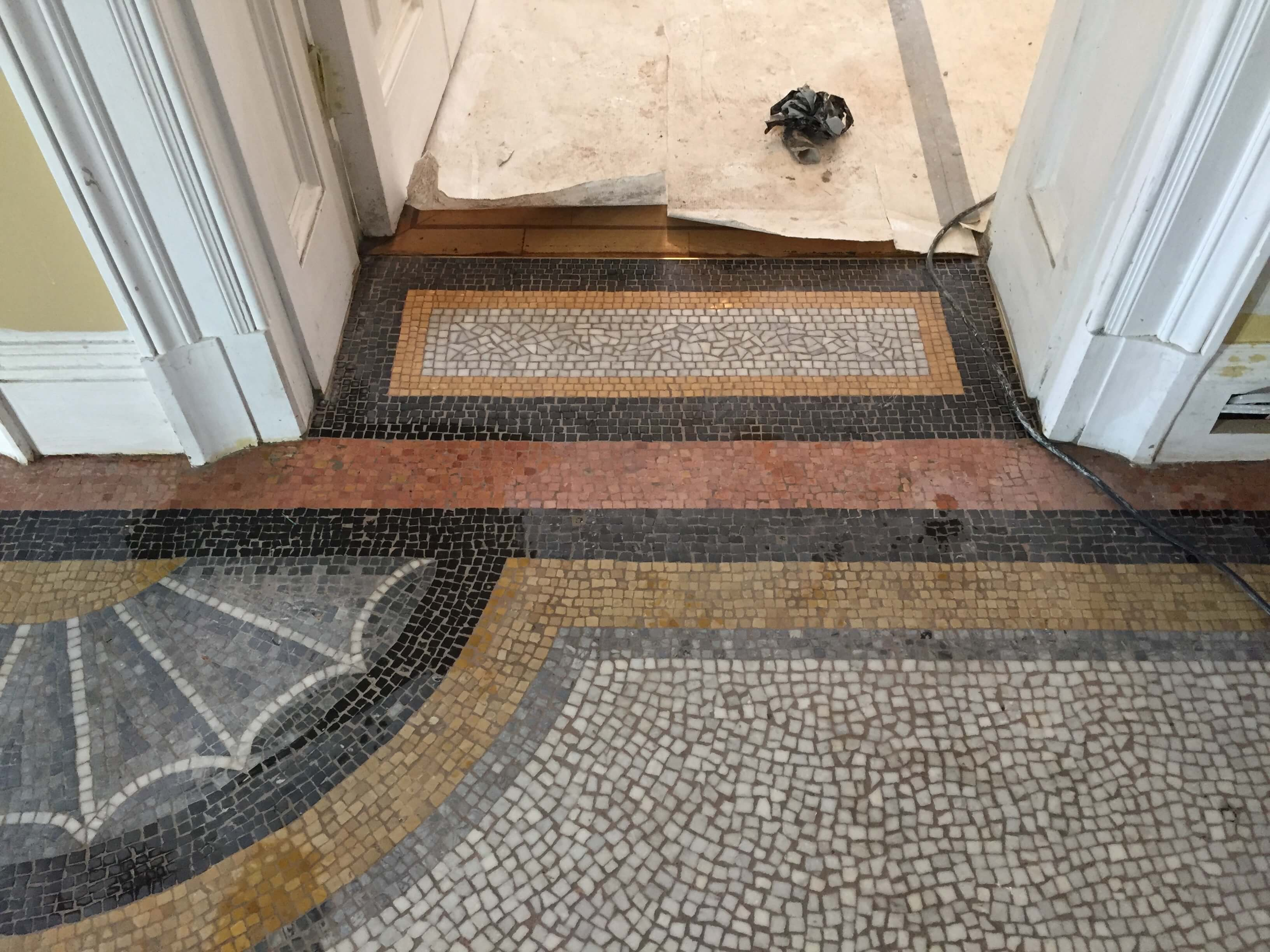 missing door threshold reinstated - mosaic