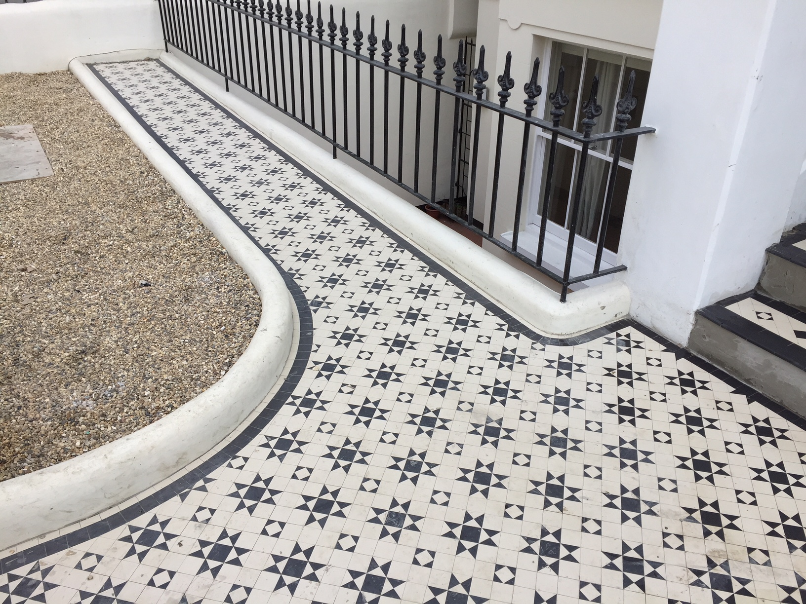 Examples of new bespoke geometric tile installations in Central London-1