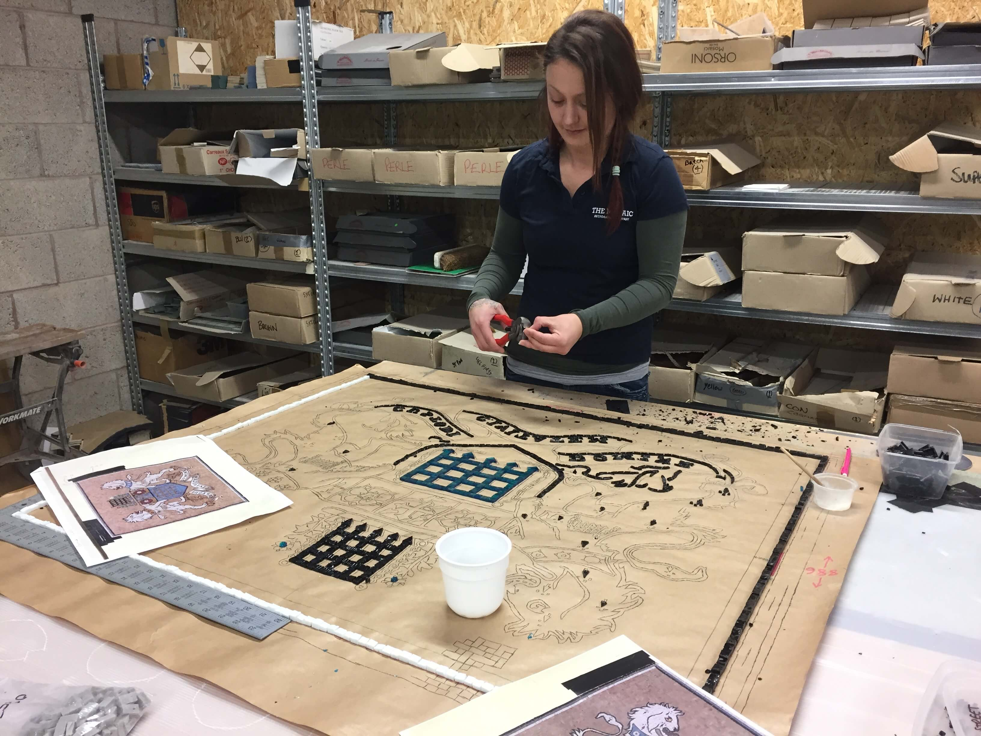 Anna starts complicated Farm Street mosaic