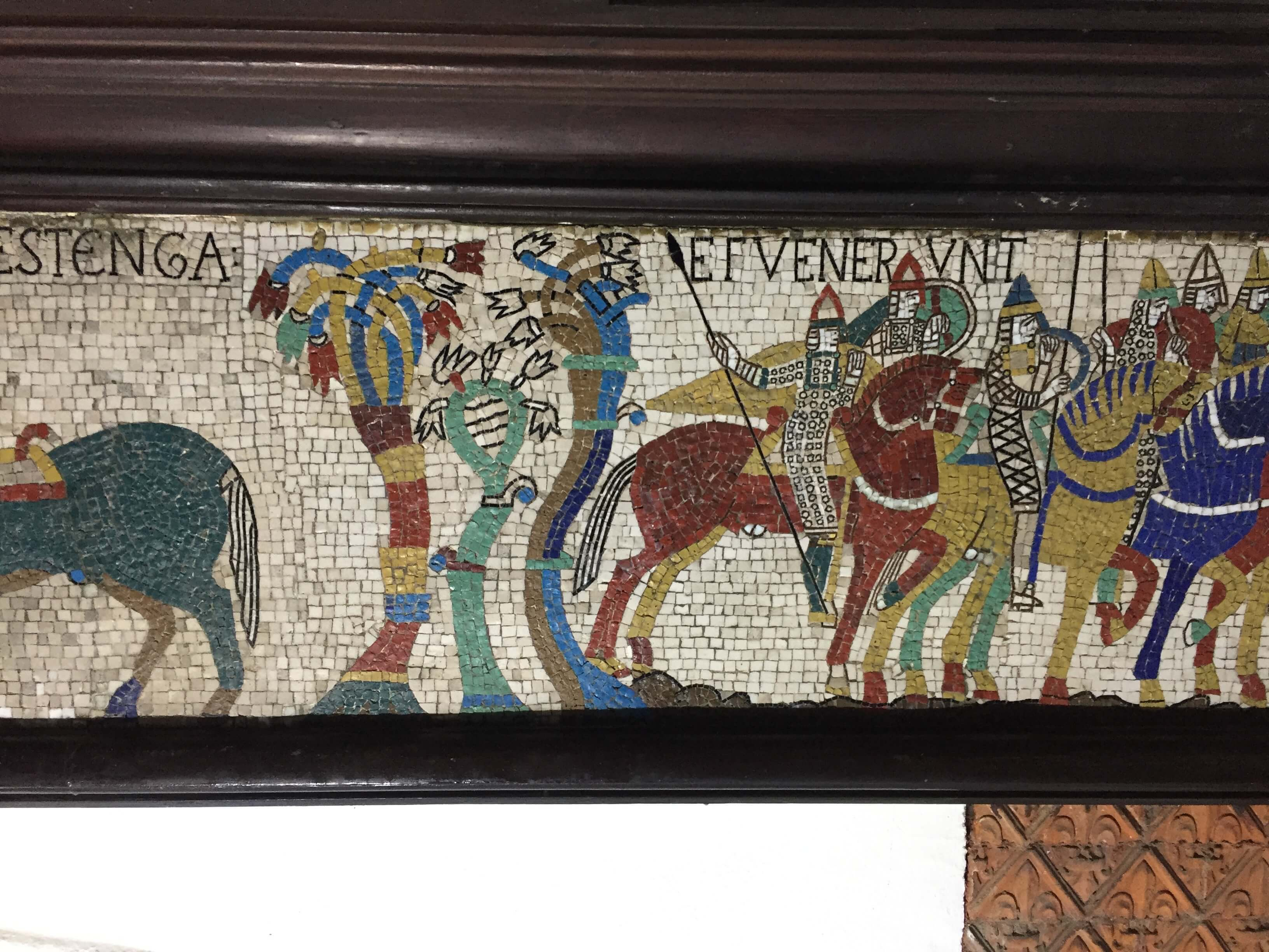Bayeux Tapestry Mosaic, Hastings Library 3