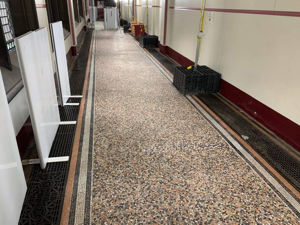 As part of major conservation and refurbishments works at The Town Hall, the best example of Victorian Gothic Architecture in the UK with over 4,000m2 of marble mosaic works, we have been carrying out 'market testing' to establish a suitable specification and methodology for this very exciting project.